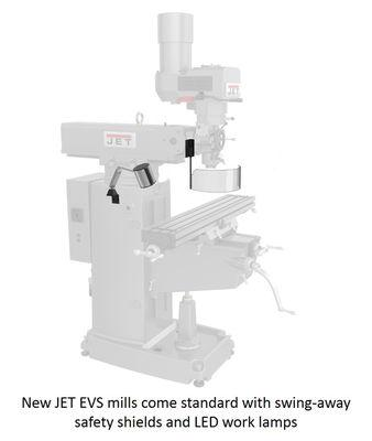 Jet JTM-1050EVS2/230 Mill With 3-Axis Ac