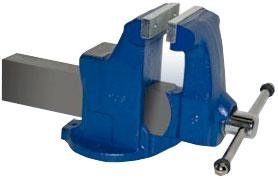 Heavy Duty Industrial Machinists Bench Vise - Stationary Base